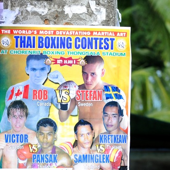 Thaiboxing event poster
